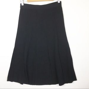 Exclusively Misook Black A-Line Pull On Skirt XS
